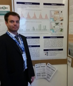 Yours truly, presenting a poster about flea and tick infestations